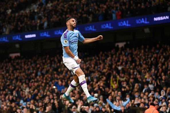 Mahrez was on point for Man City against Chelsea