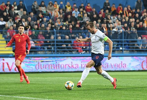 England put 5 past Montenegro in March, including a goal for captain Harry Kane