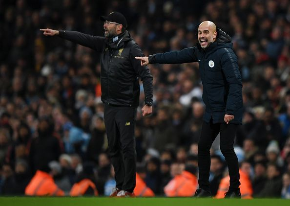 Klopp and Guardiola are regarded as the two o best managers in the world at the moment.