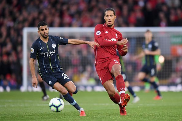 Virgil Van Dijk and Riyad Mahrez