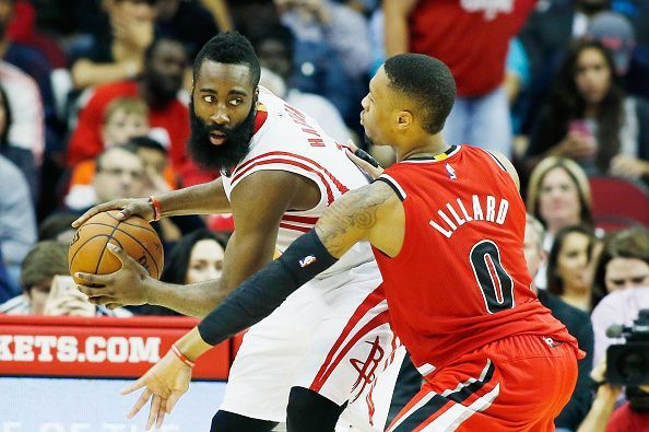 James Harden (left) has been phenomenal for the Rockets