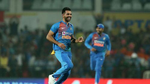 India bowler Deepak Chahar