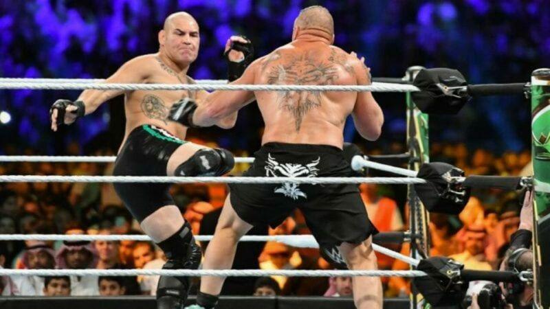 Cain Velasquez and Brock Lesnar