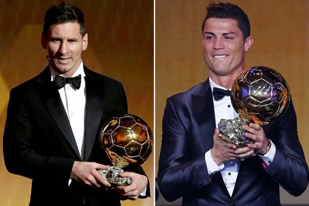 Lionel Messi and Cristiano Ronaldo have each won the Ballon d