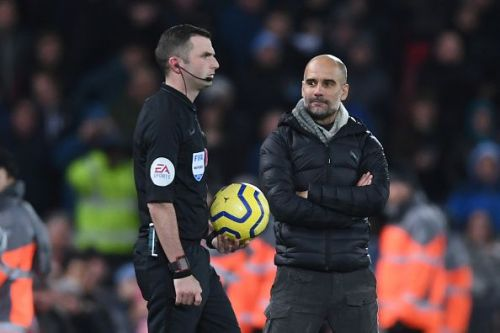 Guardiola was incandescent that the first goal was allowed to stand