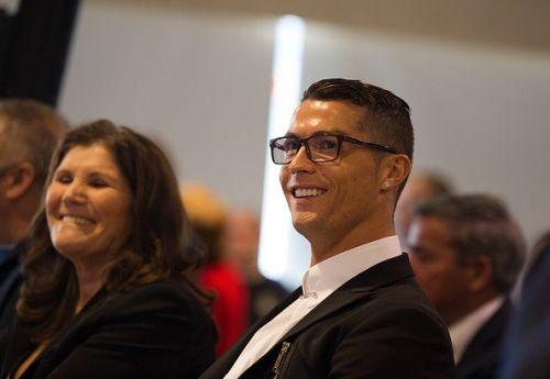 Cristiano Ronaldo with his mother Dolores Aveiro