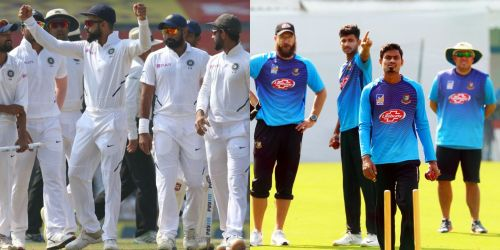 भारत और बांग्लादेश की टीम