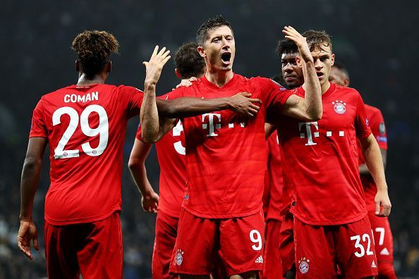 Robert Lewandowski continues to impress for Bayern Munich