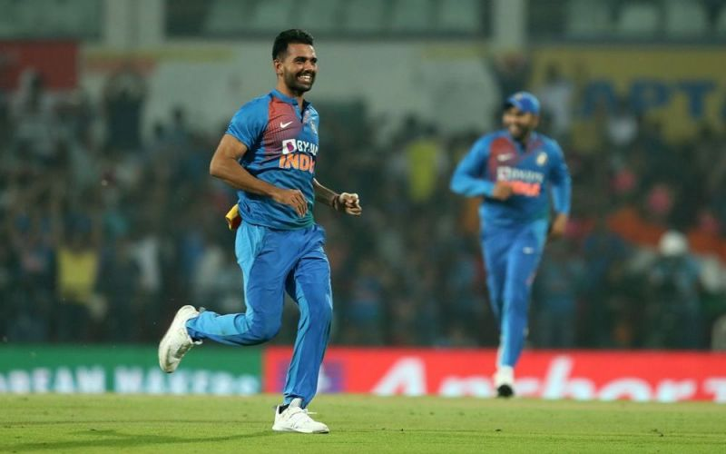 Deepak Chahar registered magical figures of 6/7 from 3.2 overs (PC: BCCI.tv)
