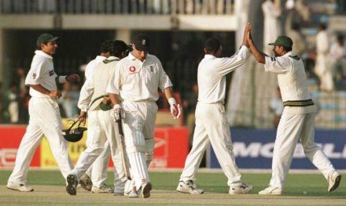 Pakistan v England at Gadaffi Stadium
