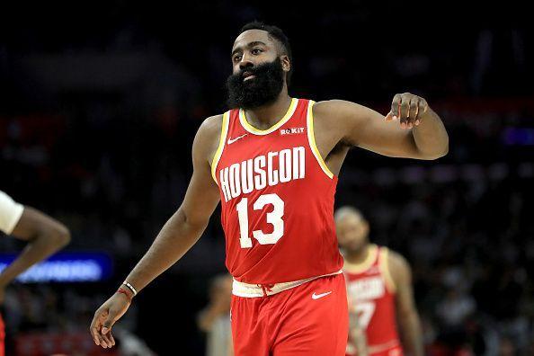 James Harden and the Houston Rockets take on the Atlanta Hawks