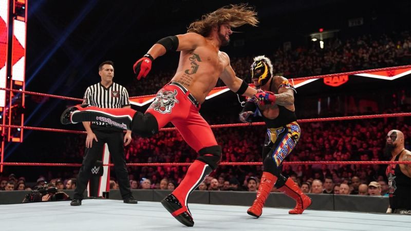 Styles and Mysterio in action
