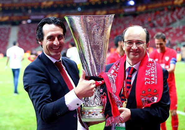 Unai Emery won the Europa League in three consecutive seasons
