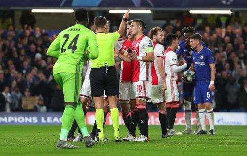 Chelsea FC v AFC Ajax played out a dramatic 4-4 draw at the Bridge