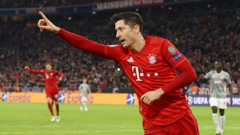 Red hot Robert Lewandowski has scored in each of the 10 Bundesliga games this season