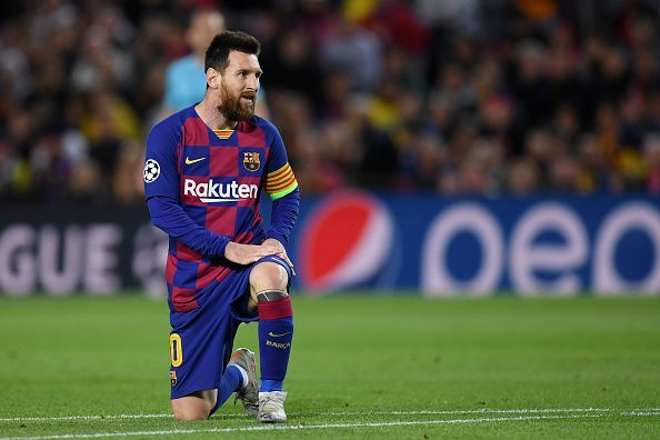 Messi hit the woodwork in another frustrating night.