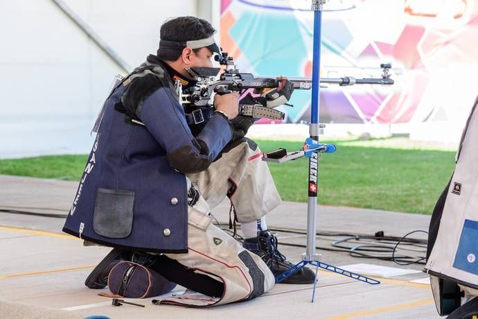 Sanjeev Rajput finished 9th in the qualification round in Men