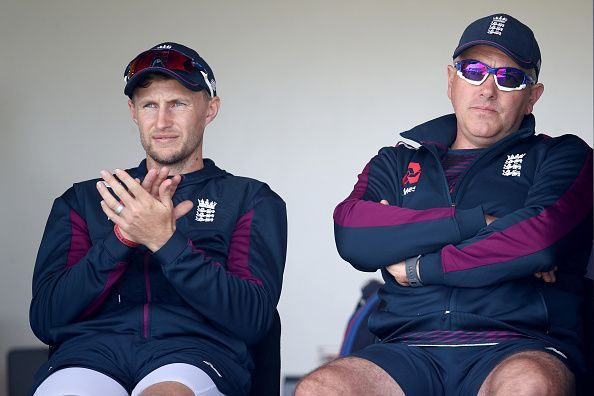 Joe Root (left) and Chris Silverwood (right)
