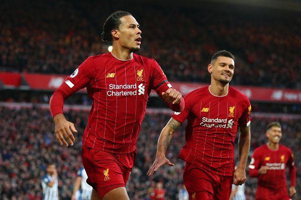 Virgil van Dijk scored both of Liverpool