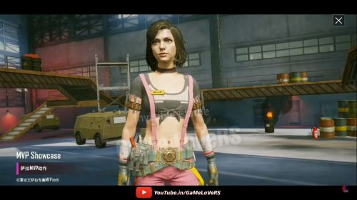 Sara, the new female character in PUBG Mobile might roll out with the 0.15.5 update (Image: GaMe LoVeRS, YouTube)