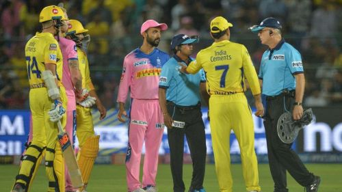 Dhoni inexplicably walked onto the field in the 2019 IPL to contest an umpiring decision