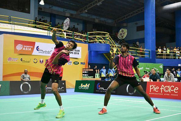 Chirag Shetty (left) and Satwiksairaj Rankireddy outshone India