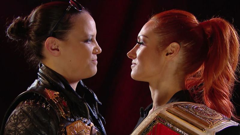 Shayna Baszler and Becky Lynch stare each other down on RAW