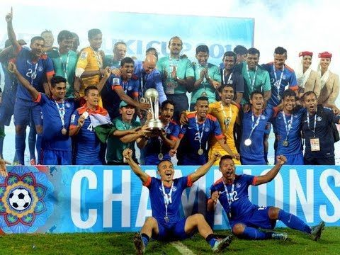 India celebrating the 2016 SAFF Cup final victory