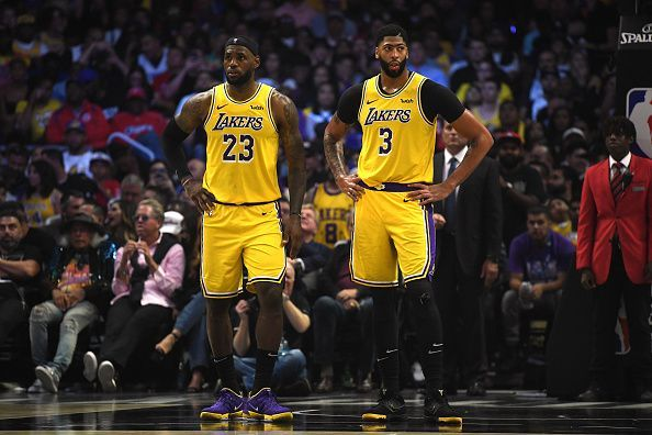 The Lakers sit at the top of the Western Conference standings