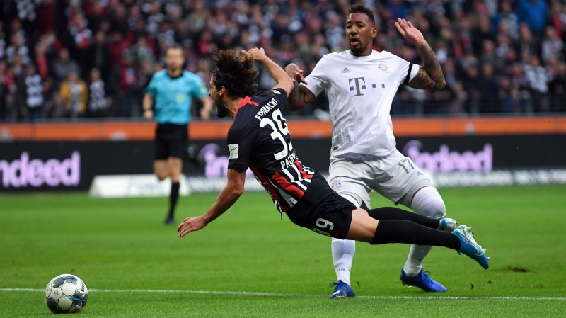Jerome Boateng was sent off for tripping Goncalo Pacienca