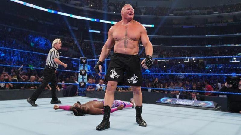 ब्रॉक लैसनर ने कोफी किंग्सटन को हराया