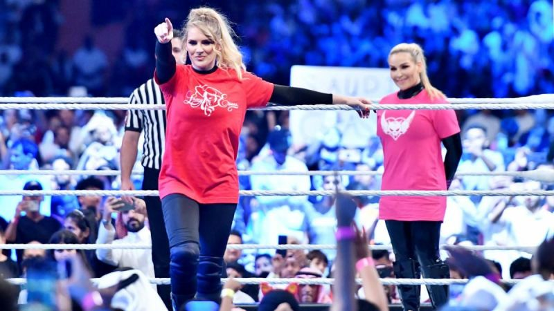 Lacey Evans and Natalya.