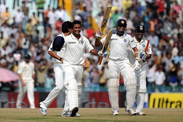 Laxman (R) came up trumps for India on numerous occasions