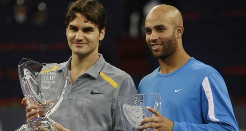 Federer beat James Blake in 2006 to win his 3rd ATP Finals title