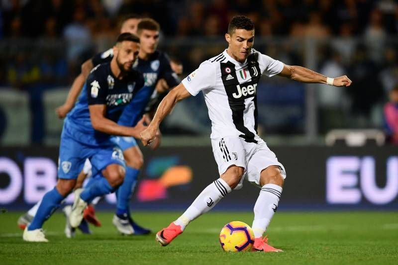 Ronaldo scores from the spot against Empoli