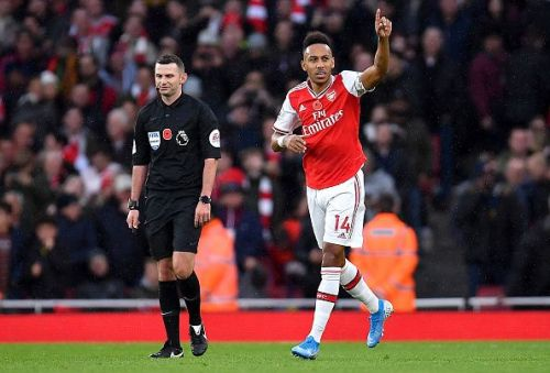 Aubameyang propelled Arsenal into the lead