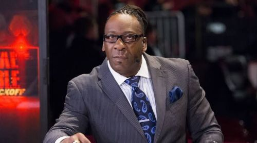 Booker T now works as a host for WWE Backstage on FS1