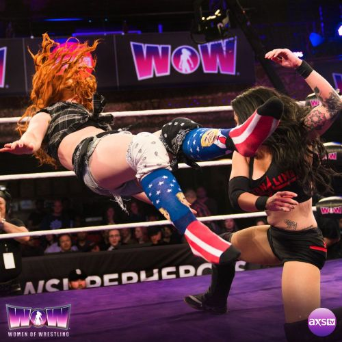 It's not easy to wrestle without your boots...