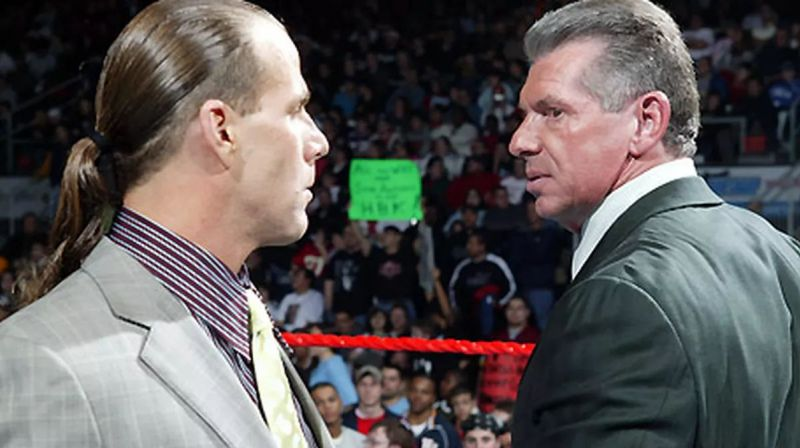 Shawn Michaels and Mr. McMahon