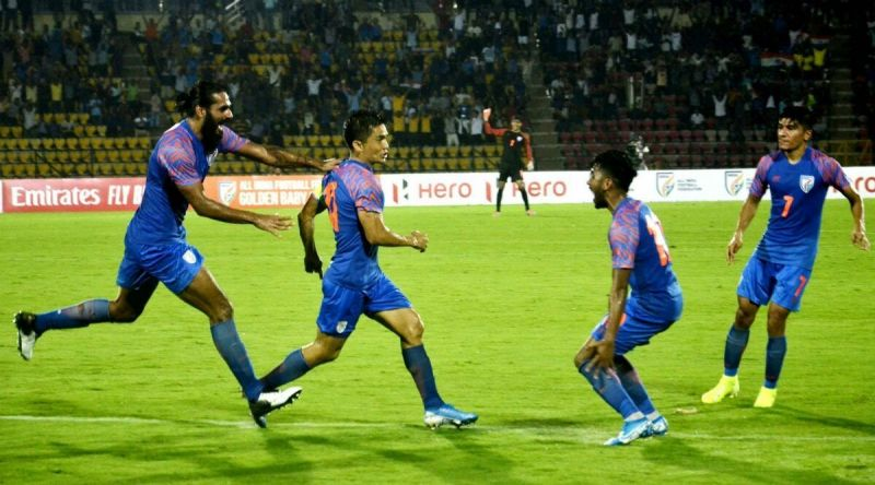 Sunil Chhetri will look to get his name on the scoresheet against Oman