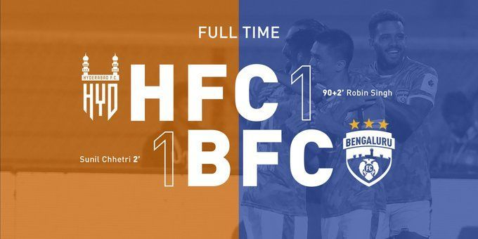 Bengaluru FC played out a 1-1 draw against Hyderabad FC