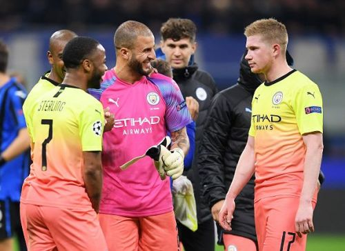 Pep would be hoping for some magic from his star men Sterling and de Bruyne
