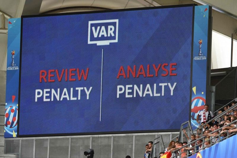 VAR reviews a penalty decision during the 2018 FIFA World Cup