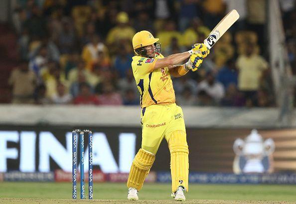 Shane Watson opens the innings for Chennai Super Kings