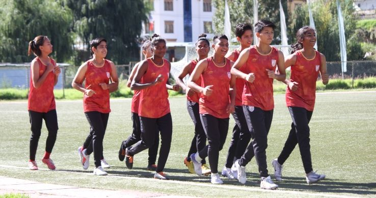 India U17 players in training.