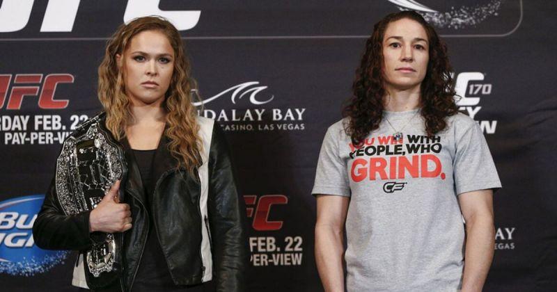 Ronda Rousey and Sara McMann.