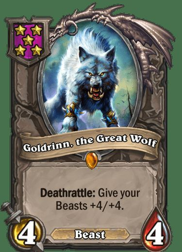 Goldrinn, the Great Wolf