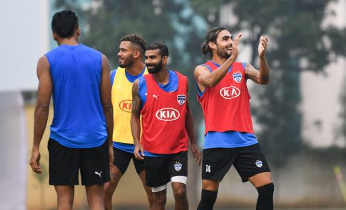 The BFC players in training.