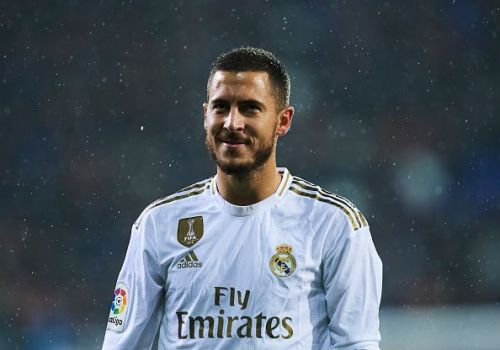 Hazard in Real Madrid colours