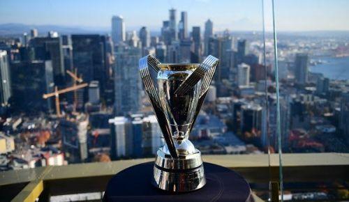 The MLS Cup trophy